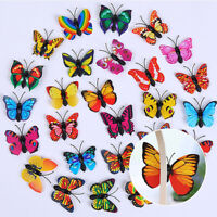 KQ_ 12pcs/set 3D Butterfly DIY Art Wall Sticker Kids Room Mural Home Decor PVC D