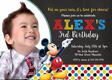 Mickey Mouse, Mickey Clubhouse, Mickey Birthday Party Invitation, Invitation