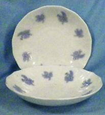 2 Chelsea Blue Thistle Saucers White Porcelain Dinnerware Antique No Cups