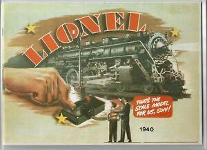 Lionel 1940 Reprint Reproduction Catalog