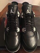 BRAND NEW IN BOX! Nike Air Jordan IV 4 LS Oreo Black Sz 12 Yeezy Dunk Boost XI V