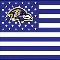 Baltimore Ravens 3x5 Foot American Flag Banner New