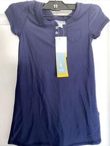 GIRLS PAJAMA NIGHT GOWN SHIRT LULAROE ROSIE-SPANDEX SOLID NAVY BLUE SIZE 4 NWT