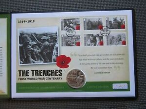 2014 The Trenches First World War Centenary Silver Coin - Limited Edition