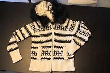 Maglione con zip e cappuccio in pelliccia VDP
