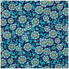Chelsea - Gypsy in the Garden - Midnight Blue - Quilting Fabric