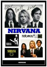 More details for (#185) kurt cobain nirvana signed a4 photo//framed (reprint) great gift @@@@@@@@