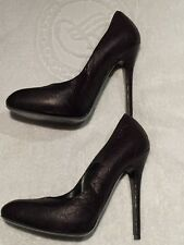 ALEXANDER McQUEEN SIZE 38/5 Black/ Greyish Sexy Very High Heel For Party £579