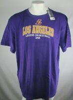 Los Angeles Lakers Men 2X 3X 4X Majestic Big & Tall Purple Short Sleeve Tee NBA