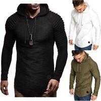 New Hoodies Men Fashion Solid Color Sweatshirt Hip Hop Autumn Winter Pullovers