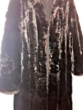 "Stunning & Stylish Vintage Fur 43"" Coat 3/4 ~ Silk Lined ~ from 1940's Real Fur"