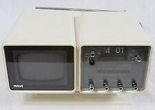 AS IS Vintage White RCA 059Y TV Radio Clock Mid Century Modern Space Age Mod