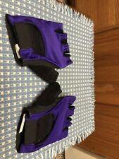 Vintage Racing Half  Fingerless Padded Cycling Gloves  XL Purple Performance