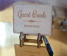 Free standing Guest Book Sign, Wedding Engagement Birthday Party Office Function