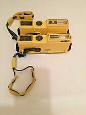 2 Minolta Weathermatic A 110 Waterproof Underwater Diving Cameras & Wrist Strap