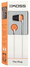 Koss The Plug KTP1 Earphone Memory Foam Earbuds Orange
