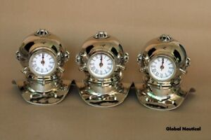 Lots of Three Antique Diving clock home decorative Metal clocks in Chrome finish