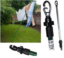 Heavy Duty Prop Line Washing Outdoor Extendable Pole Twist lock Support New 2.4m