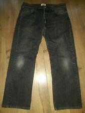 """Levis 501 pierna recta Jeans negro se desvaneció W36"""" L30"""""""