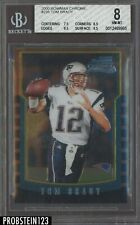 2000 Bowman Chrome #236 Tom Brady RC Rookie Patriots BGS 8 NM-MT