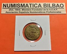 LEJONA 1 PESETA 1937 BILBAO LUJO FICHA COOPERATIVA OBREROS y EMPLEADOS CATOLICOS