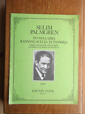 SELIM PALMGREN FINNISH FOLK SONGS AND DANCES PIANO EDITION FAZER F.M.06152-3