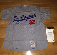 Sandy Koufax Signed Autographed Authentic Mitchell & Ness Dodgers Jersey UDA