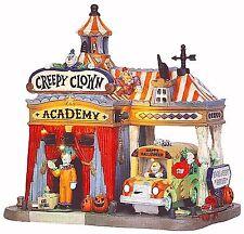 Lemax 55905 CREEPY CLOWN ACADEMY Spooky Town Lighted Building Halloween Decor I