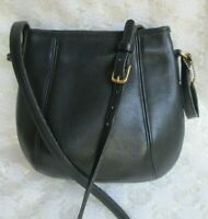 COACH CROSSBODY PURSE #9990, VINTAGE Black Leather Hinged Frame, Excellent