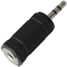 3.5mm Mini Jack Socket para 2.5mm Enchufe Adaptador Conversor de Audio estéreo