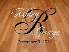 Monogram Wedding Dance Floor Decal - Personalized Wall Decals