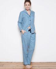 Cyberjammies Clara Teal cotton blend pyjama set UK Size 18 BNWT