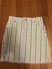GAP - Striped Spring Summer Mini Skirt 100% Cotton Size 12 Excellent Condition