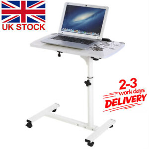 Movable Over Bed Laptop Trolley Desk Overbed Hospital Medical Table With Wheels