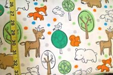 B176 Boy woodland White deer fox bunny Flannel Material New sold BTY