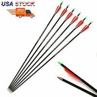 US 12pcs Carbon Arrows 28inch 7.8mm SPF500 Archery F Compound bow Hunting