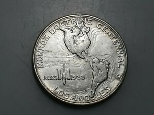 ESTADOS UNIDOS USA 1/2 DOLAR HALF DOLLAR 1923 S 100 AÑOS DOCTRINA MONROE EBC