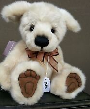 """Handmade Collectable Fully Jointed Charlie Bears Adorable Puppy """"Trix""""  28cm"""