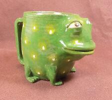 BULL FROG FACE MUG - Coffee Face Jug - Folk Frog Tea Cup