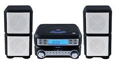 Stereo Home Cd System Player MP3 Radio Room Speakers Remote Compact AM/FM Alarm