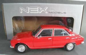 Peugeot 504  in rot  Welly  NEX MODELS  Maßstab 1:18  NEU  OVP