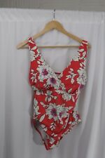 New With Tags!! Swimsuits for All GRENADA V-NECK Women's SWIMSUIT  Size 12