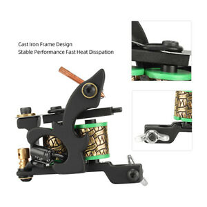 Tattoo Machine without Hook Wire Alloy/Iron Frame Coil Tattoo Machine Equipment