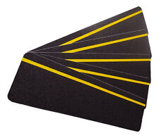 Anti-Slip Stair Treads 150mm x 610mm Black with Yellow Reflective Strip Pk=5