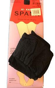 NWT SPANX Sheer Hi Knee Socks 2 Pair Pack, Color Black One Size, Last Pair!