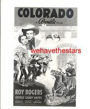 Vintage Roy Rogers Gabby Hayes COLORADO '40 AD ART Publicity Portrait