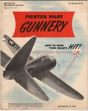 1943 AAF P-47, P-51 FIGHTER PILOT GUNNERY FLIGHT MANUAL AIRCRAFT HANDBOOK-CD