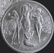 1 oz silver Esoteric Virtues BU .999 Pure COA Silver Shield Yoga Lotus Presale