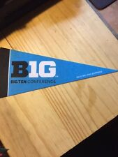 2 Big Ten Conference Mini Pennants (felt) made in USA