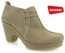 Clarks Originals Mushroom Suede Ladies shoes sizes 3/35.5 - 5.5/39 D RRP £70